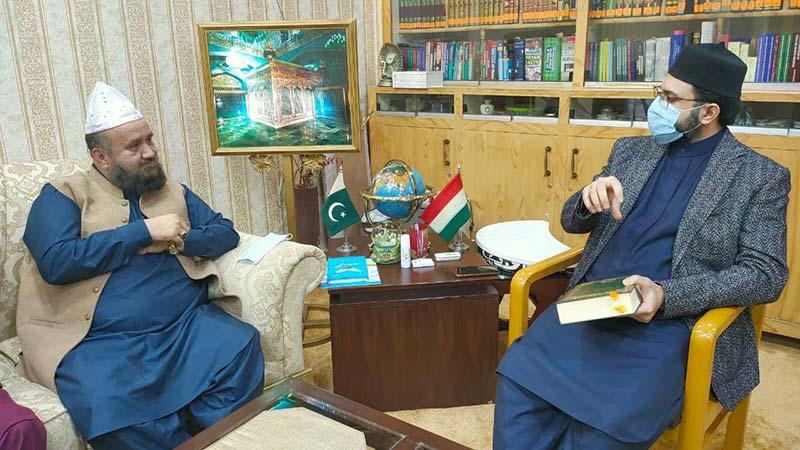Pir Syed Shams-ur-Rahman Mash'hadi calls on Dr Hassan Mohi-ud-Din Qadri