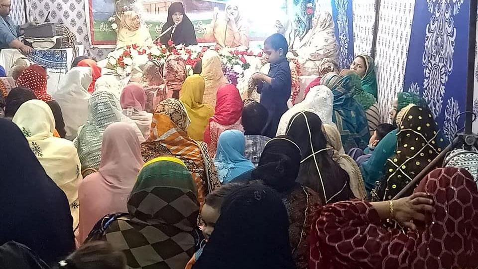 حیدرآباد: منہاج ویمن لیگ کے زیراہتمام بڑی گیارہویں شریف کی محفل