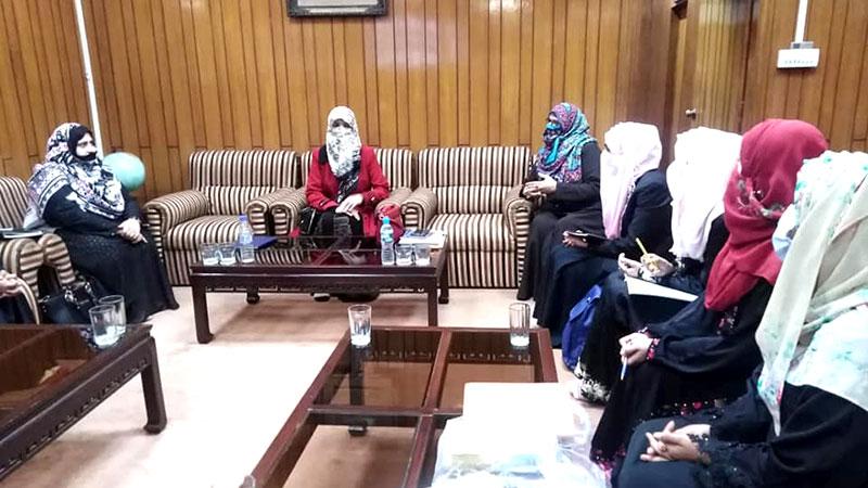 منہاج ویمن لیگ سرگودھا ٹیم کی ڈاکٹر غزالہ حسن قادری کیساتھ ملاقات