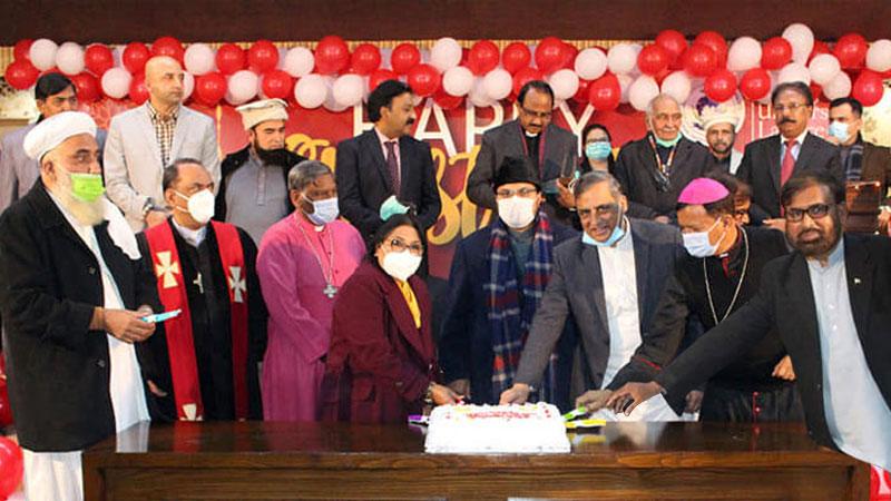 منہاج یونیورسٹی لاہور اور انٹرفیتھ ریلیشنز کے زیراہتمام کرسمس کی تقریب