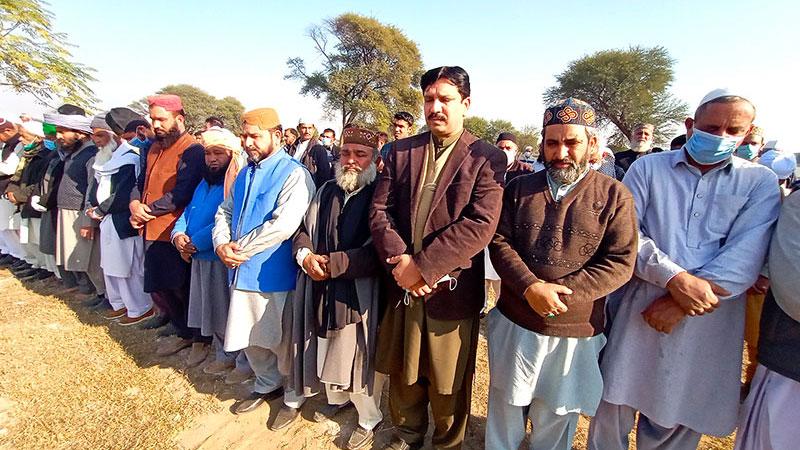 منہاج القرآن انٹرنیشنل ناروے کے سینئر رہنماء فیض عالم قادری کے والد گرامی کی  نماز جنازہ