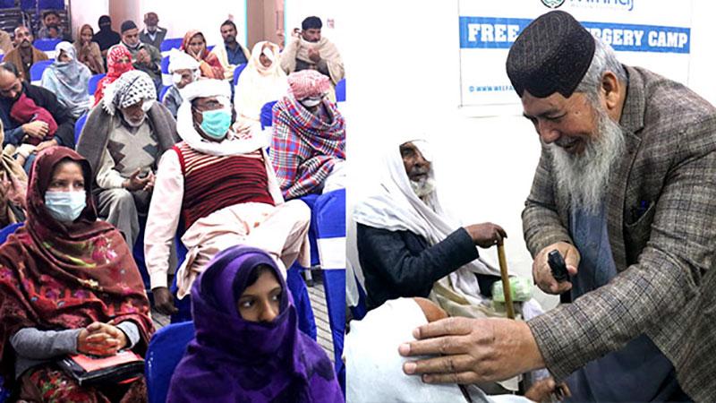 منہاج ویلفیئر فاؤنڈیشن کے زیراہتمام نارووال میں فری آئی کیمپ