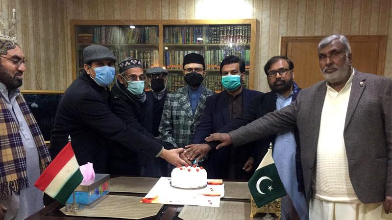 تحریک منہاج القرآن کے زیراہتمام بانیٔ پاکستان کے یوم ولادت پر کیک کاٹنے کی تقریب