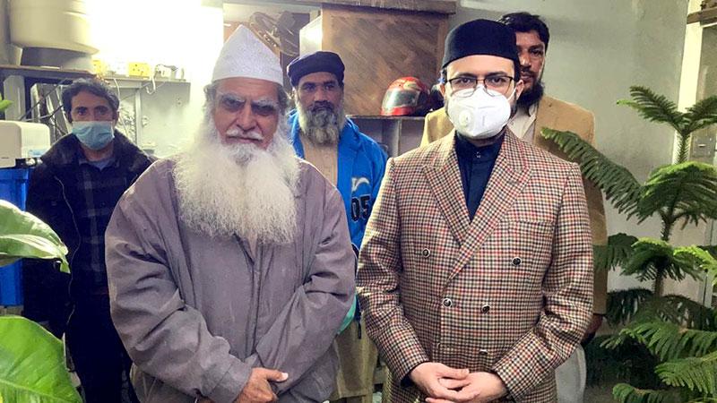 پیر فیض شاہد فیضی کی ڈاکٹر حسن محی الدین قادری سے ملاقات