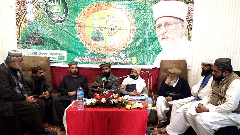 منہاج القرآن پتوکی کے زیراہتمام درس قرآن، علامہ غلام شبیر جامی کا خطاب