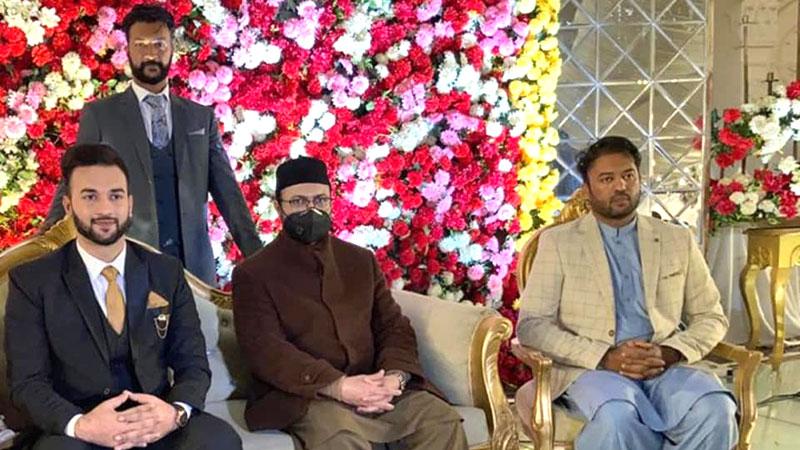 ڈاکٹر حسن محی الدین قادری کی شعیب رفیق کی دعوتِ ولیمہ میں شرکت