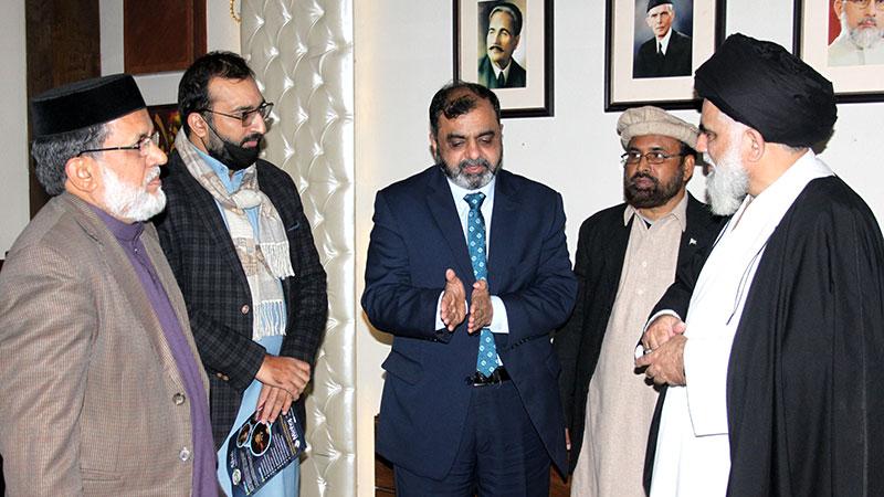 علامہ سید جواد نقوی کا آغوش آرفن کیئر ہوم اور تحفیظ القرآن کا دورہ