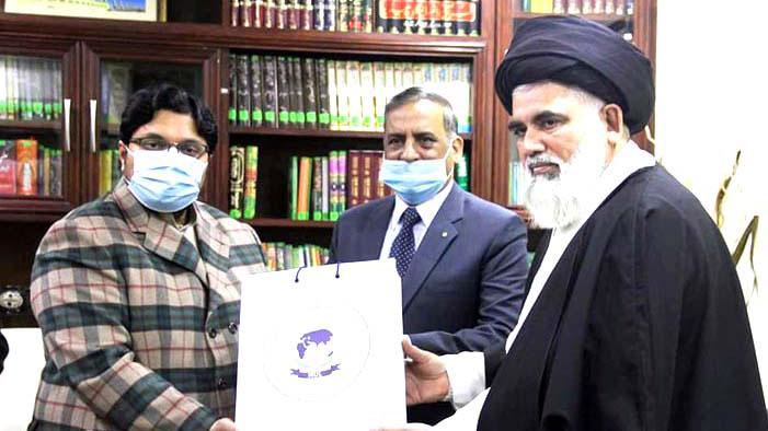 علامہ سید جواد نقوی کا منہاج یونیورسٹی لاہور کا دورہ، ڈاکٹر حسین محی الدین قادری سے ملاقات