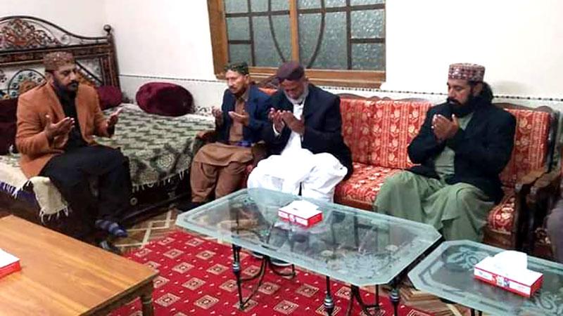 صاحبزادہ پیر مخدوم ندیم احمد ہاشمی کی پیر عرفان علی شاہ علوی سے تعزیت