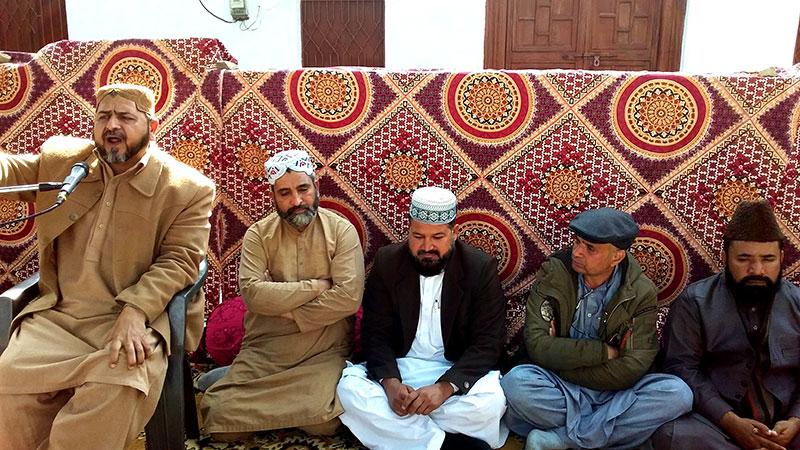 جہلم: علامہ منصور اقبال کیانی کے بھائی کے چہلم میں مرکزی وفد کی شرکت