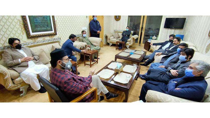صوبائی وزیر میاں اسلم اقبال کی ڈاکٹر حسن  محی الدین قادری اور ڈاکٹر حسین محی الدین قادری سے ملاقات