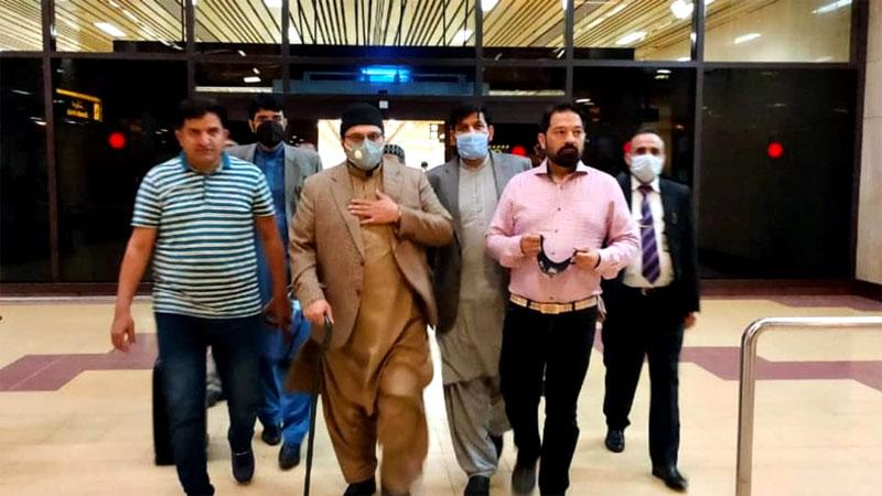 ڈاکٹر حسین محی الدین قادری تنظیمی وزٹ پر کراچی پہنچ گئے