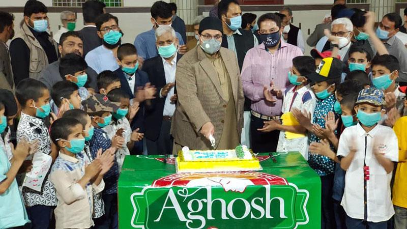 ڈاکٹر حسین محی الدین قادری کی آغوش آرفن کیئر ہوم میں موجود بچوں سے ملاقات