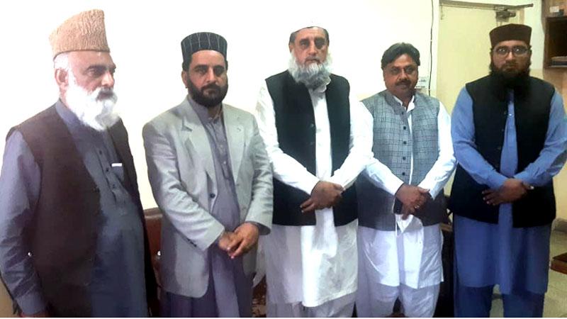 جمعیت علمائے پاکستان کے وفد کی ناظم اعلیٰ نظام المدارس پاکستان سے ملاقات