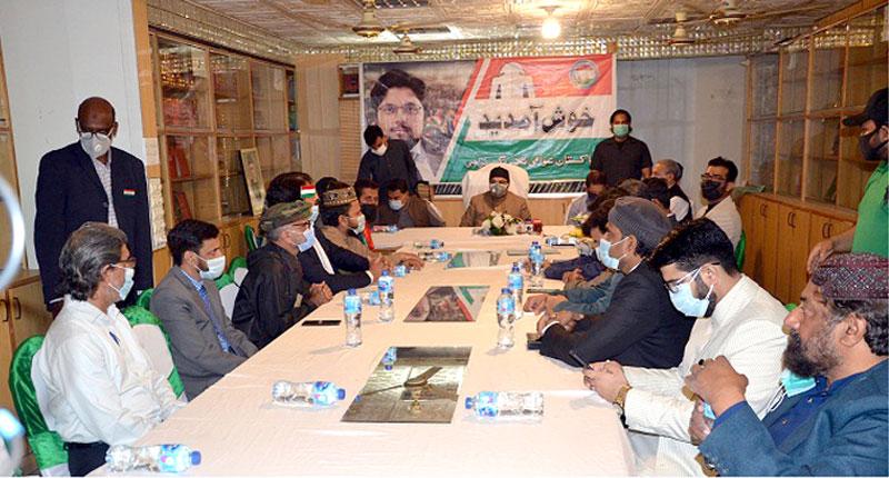 پاکستان عوامی تحریک کراچی کے قائدین کی ڈاکٹر حسین محی الدین قادری سے ملاقات