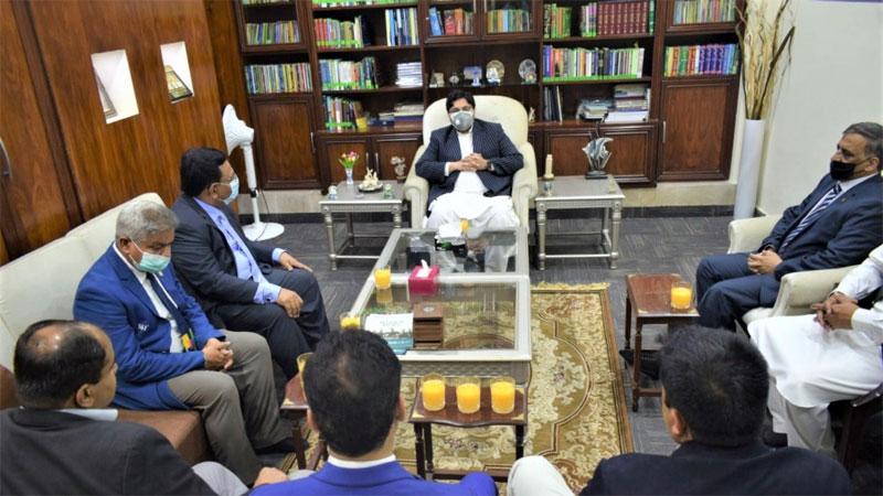 Sports Board delegation visits Minhaj University Lahore