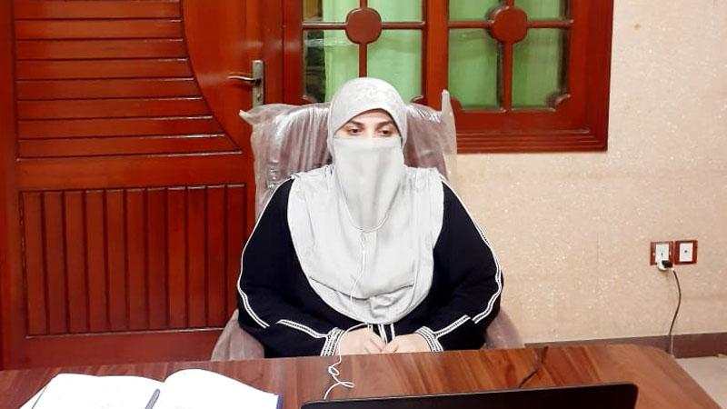 Mrs. Farah Naz addresses a webinar