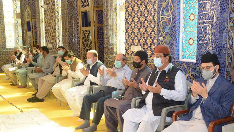 شیخ الاسلام کی ہمشیرہ کے ایصال ثواب کیلئے دعائیہ تقریب کا انعقاد