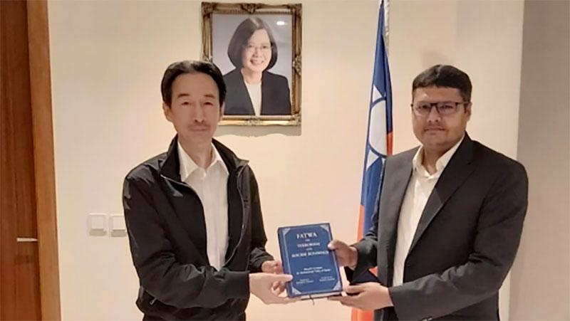 پاکستان عوامی سوسائٹی کویت (یُوتھ) کے صدر کی تائیوان کے سفیر براۓ کویت سے ملاقات