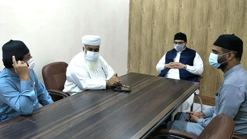 رکن صوبائی اسمبلی میاں جلیل شرقپوری کی ڈاکٹر حسین محی الدین قادری سے ملاقات