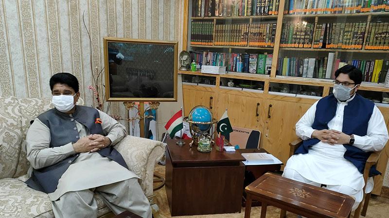 جمہوریہ مالڈووا کے پاکستان میں اعزازی سفیر میاں محمود کی ڈاکٹر حسین محی الدین قادری سے ملاقات