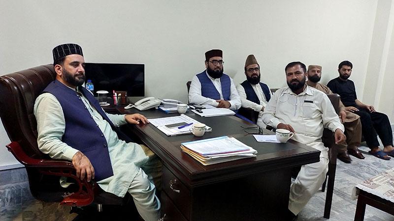 مختلف رہنماؤں کی نظام المدارس کے ناظم اعلیٰ میر آصف اکبر سے ملاقات