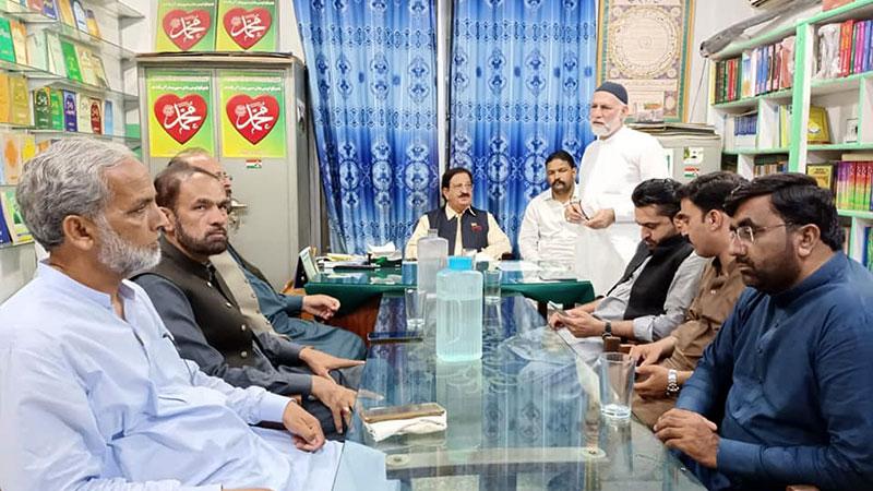 جموں کشمیر عوامی تحریک حلقہ ایل اے 3 کے قائدین کا اجلاس