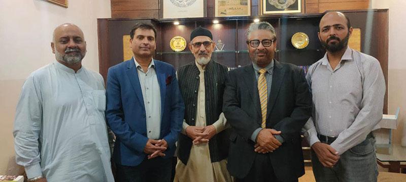 لاہور پریس کلب کے سابق صدر کا منہاج القرآن کے مرکزی سیکرٹریٹ کا دورہ