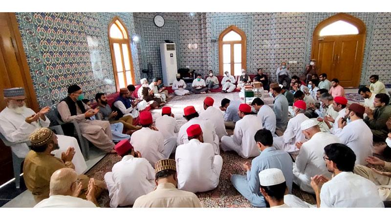 گوشہ درود میں مرحومین کے ایصال ثواب کے لیے قرآن خوانی