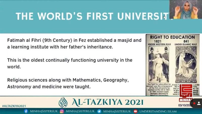 Al-Tazkiya 2021 (Day 2): Webinar with Safiyyah Sabreen