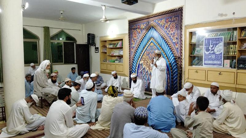 چکوال: جامعہ اسلامیہ مدینۃ العلم میں 114 واں ماہانہ حلقہ درود