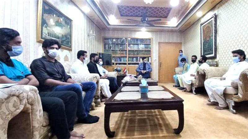 مصطفوی سٹوڈنٹس کے ذمہ داران کی ڈاکٹر حسن محی الدین قادری سےملاقات