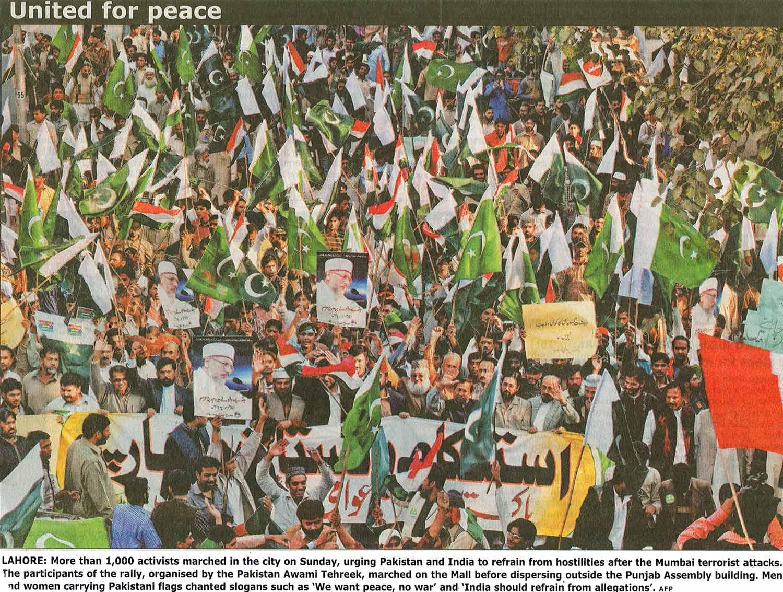 Minhaj-ul-Quran  Print Media CoverageDaily Times Lahore Page: B-1