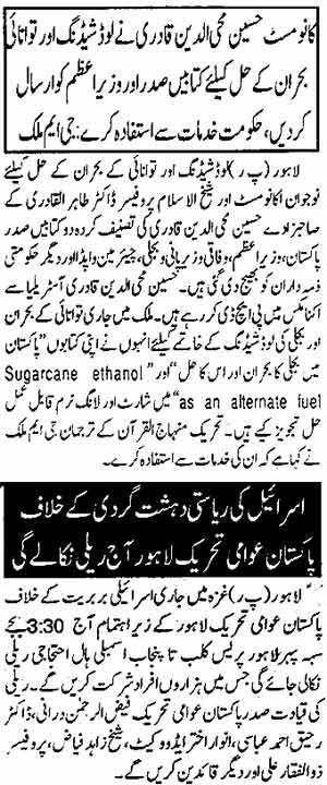 Minhaj-ul-Quran  Print Media CoverageDaiy Din page: 2