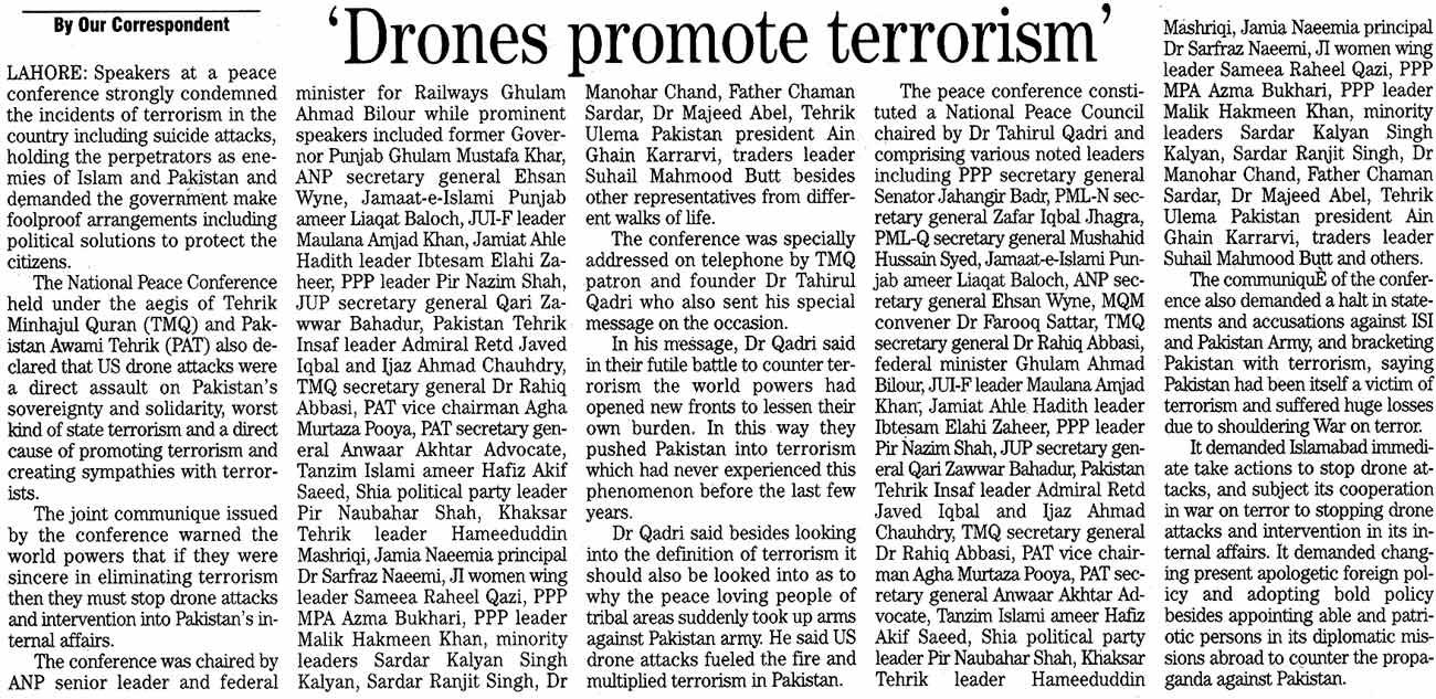 Minhaj-ul-Quran  Print Media CoverageThe News Page: 3