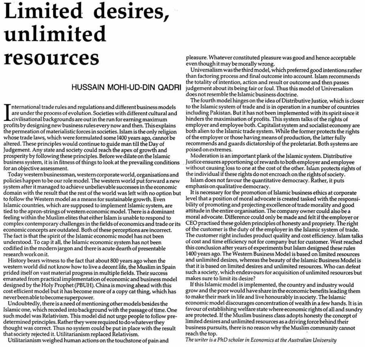 Minhaj-ul-Quran  Print Media CoverageDaily Nation Page: 7