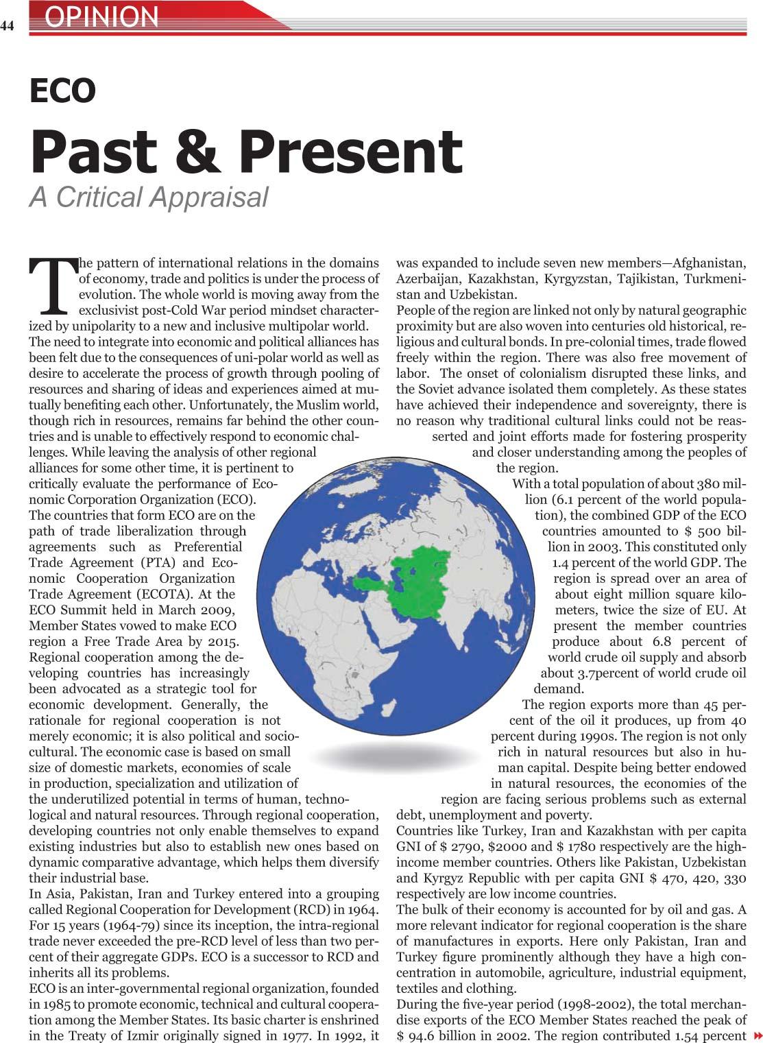 Minhaj-ul-Quran  Print Media CoverageMonthaly ECO Times July 2009
