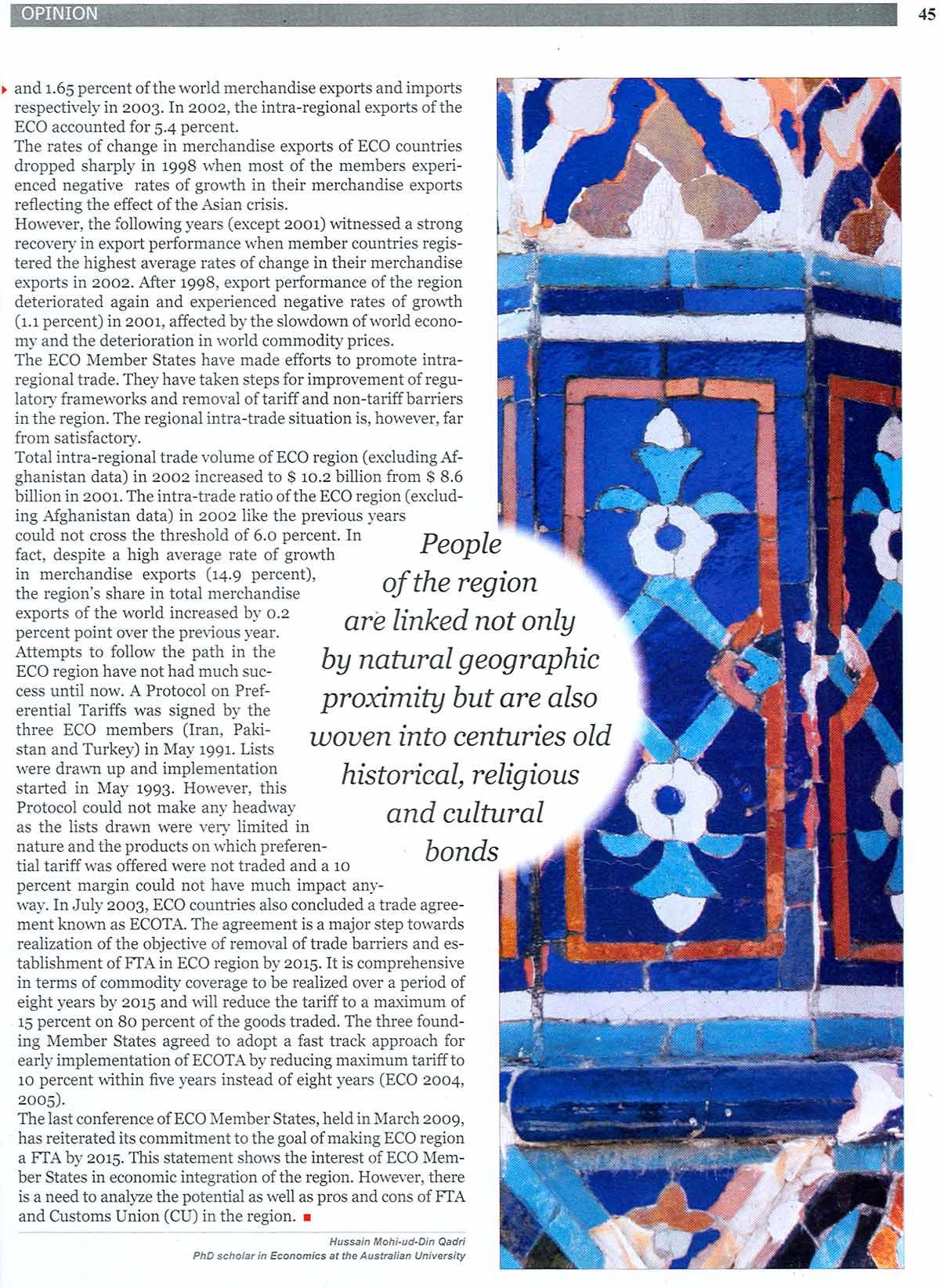 Minhaj-ul-Quran  Print Media CoverageMonthly Eco Time July 2009
