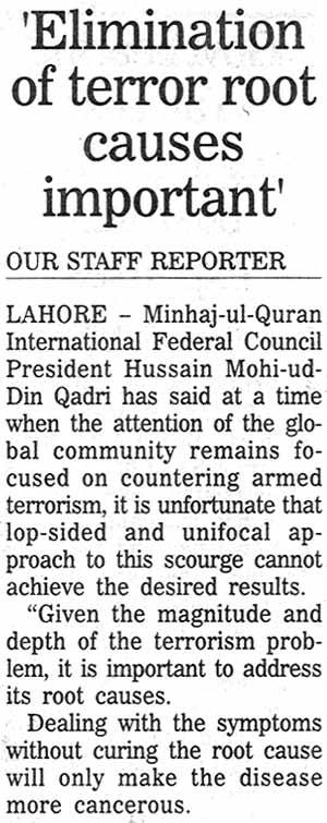 تحریک منہاج القرآن Minhaj-ul-Quran  Print Media Coverage پرنٹ میڈیا کوریج Daily The Nation Page: 16
