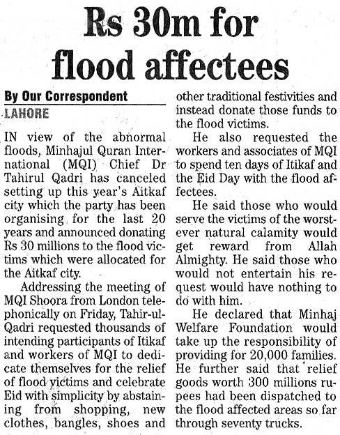Minhaj-ul-Quran  Print Media Coverage Daily The News Page 20
