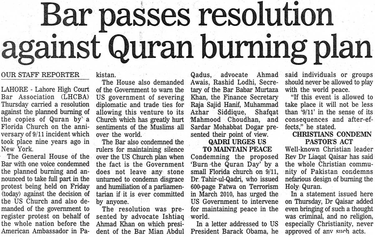 Minhaj-ul-Quran  Print Media Coverage Daily The Nation Page: 15