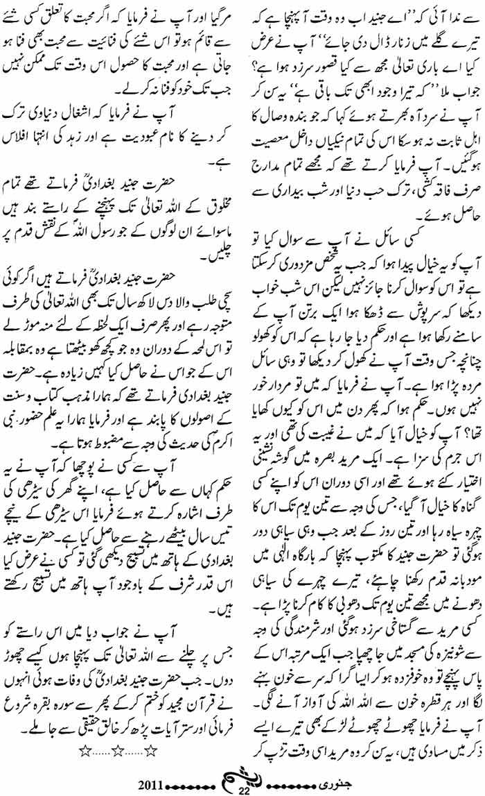 Minhaj-ul-Quran  Print Media CoverageMonthly Raysham Page 22