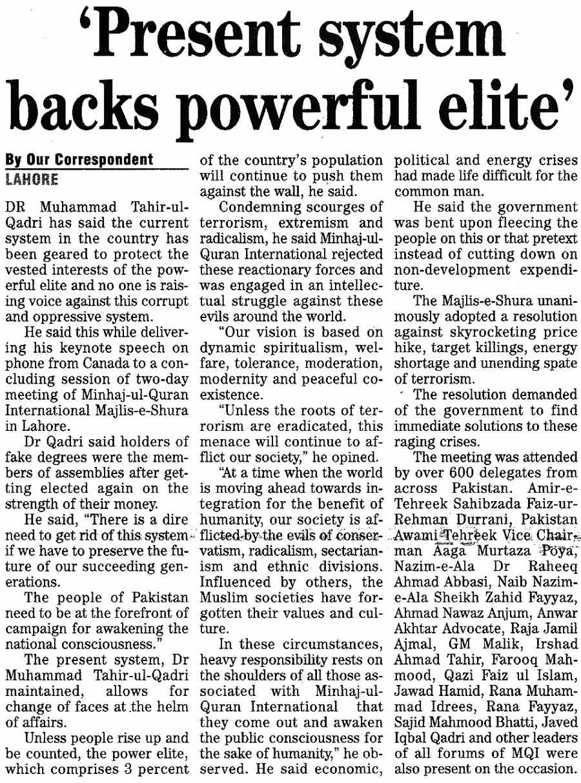 Minhaj-ul-Quran  Print Media CoverageDaily-The-News-Page-14