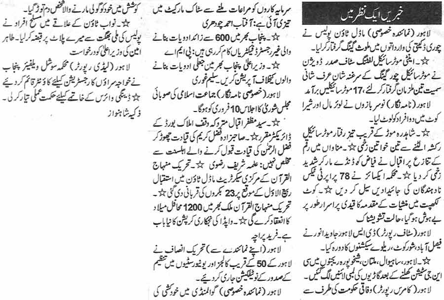 Minhaj-ul-Quran  Print Media CoverageDaily Nawa-i-Waqt page 12