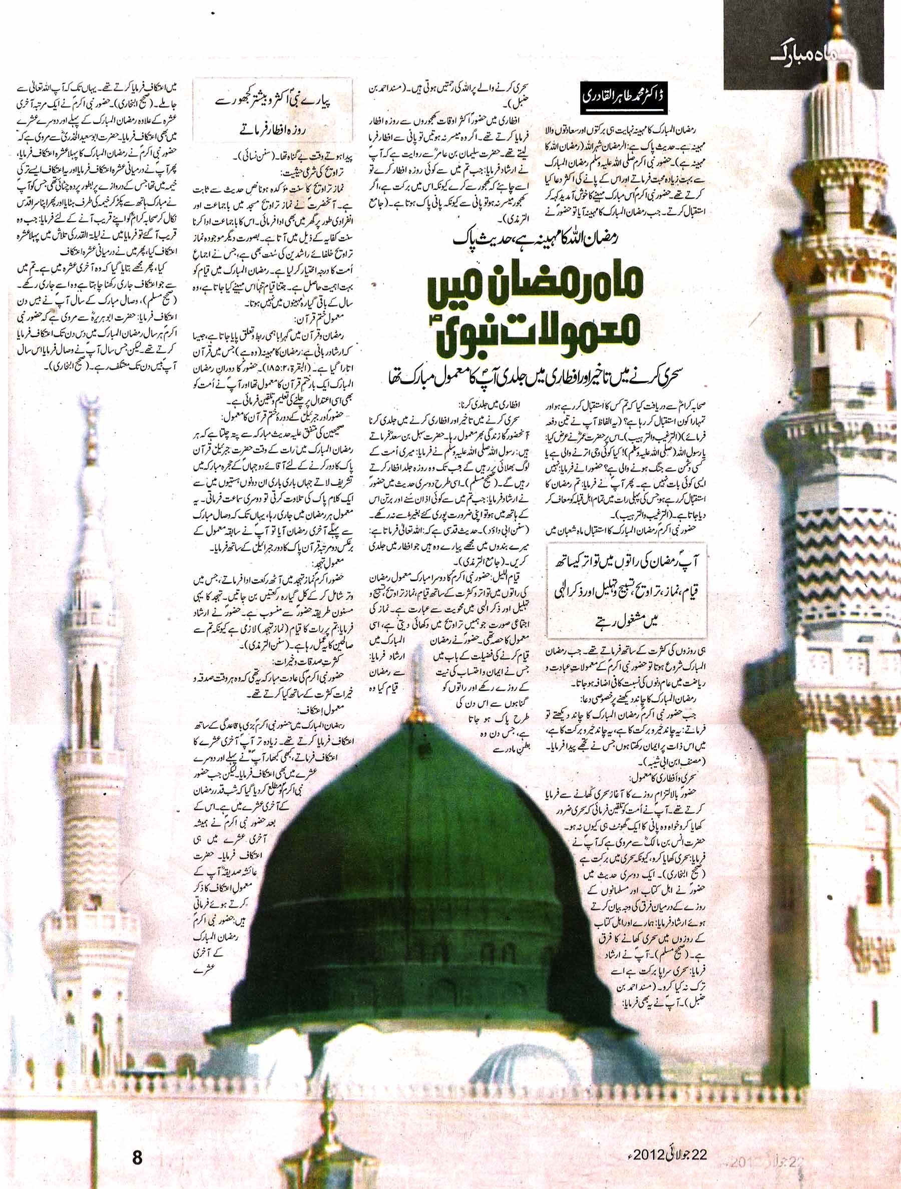 Mustafavi Student Movement Print Media Coverage Daily Nawa i Waqt (Sunday Magazine)