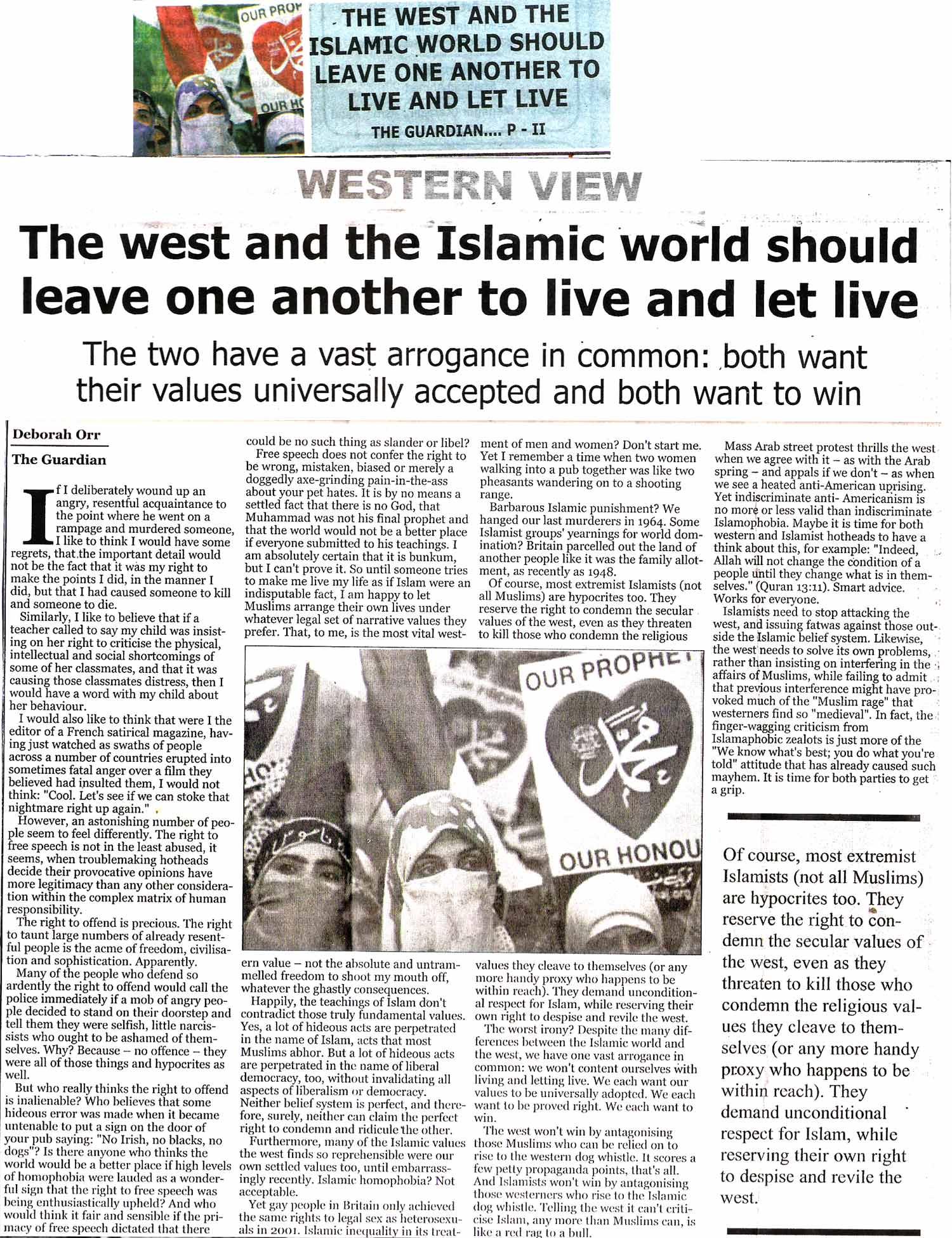 Minhaj-ul-Quran  Print Media CoverageDaily The Guardian Page 2