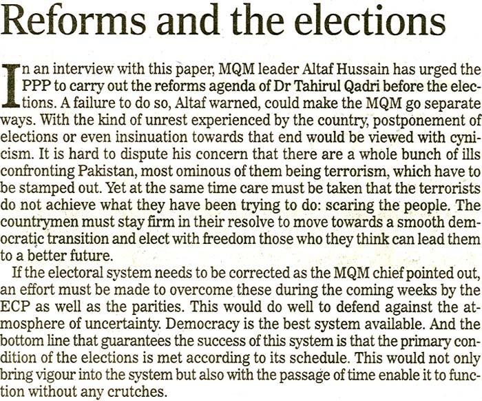 Minhaj-ul-Quran  Print Media CoverageDaily National