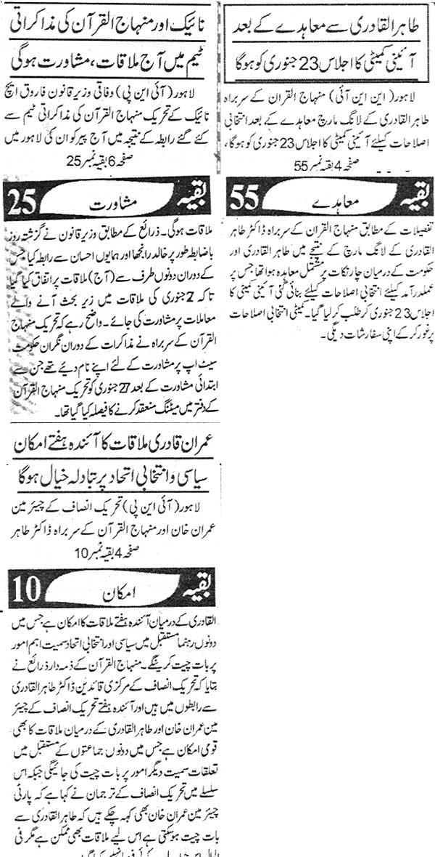 Minhaj-ul-Quran  Print Media CoverageDaily Asshark