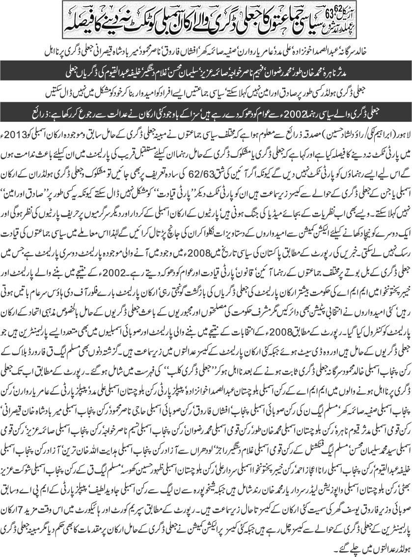Print Media Coverage Daily Khabrain