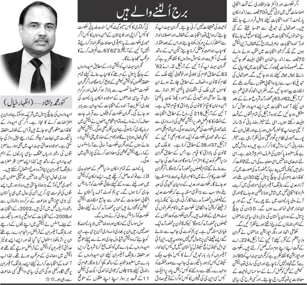 Print Media Coverage Daily Khabrain - Kanwar Muhammad Dilshad